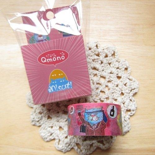 Qmono x 【eh!cat!】聯名紙膠帶【貓貓變裝 (QMT-EH01)】角色扮演