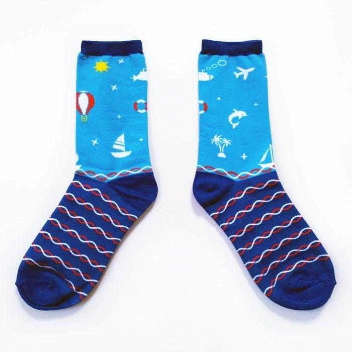 仲夏之戀 - 數著浪花一朵朵【藍天白雲】夢想巨人系列襪