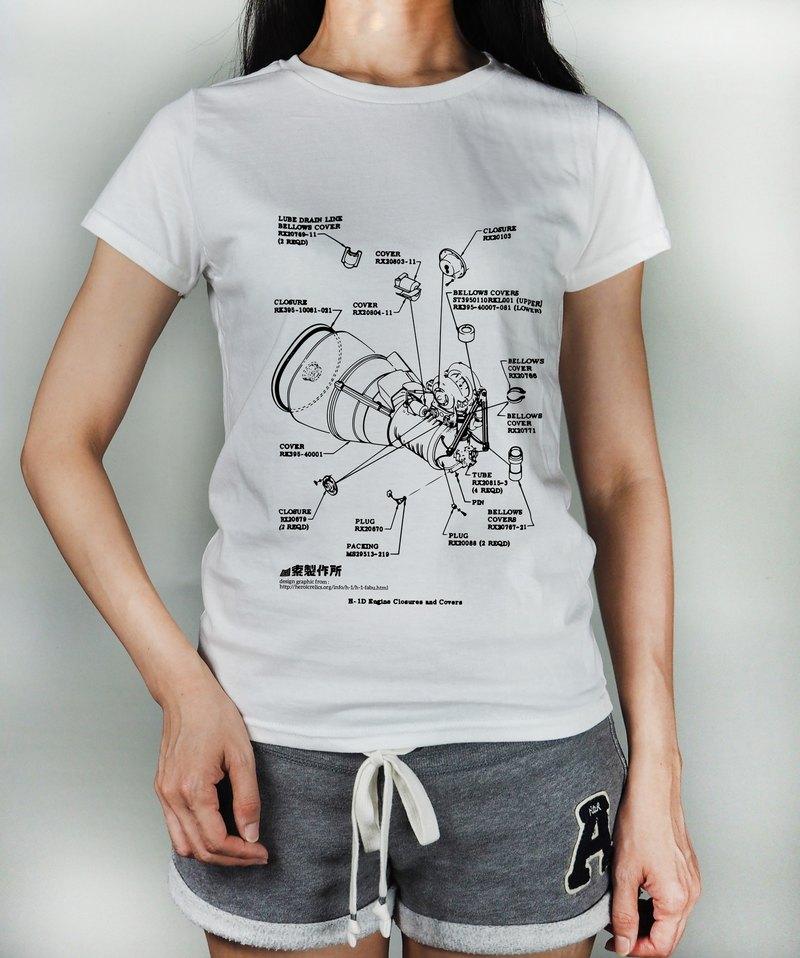 原創插畫圖TEE - 火箭迷 工業風 LOFT 潮TEE T-Shirt T恤