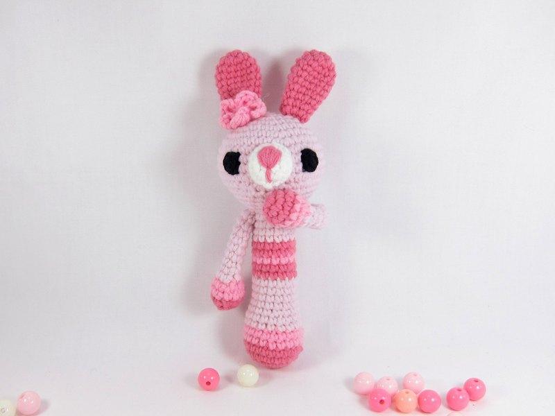 粉兔兔-寶寶手搖鈴-啟發玩具