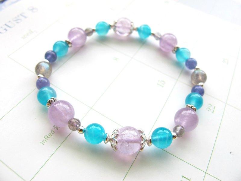 紫水晶 拉長石 天河石 丹泉石 925銀飾【星河悠遊】擺脫負面能量