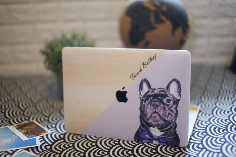 客製化狗貓寵物水彩風蘋果筆記本手提電腦全包殼Macbook Pro Air
