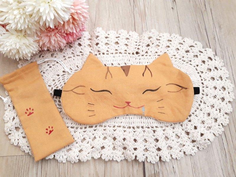 橘虎斑貓眼罩/睡眠/旅行