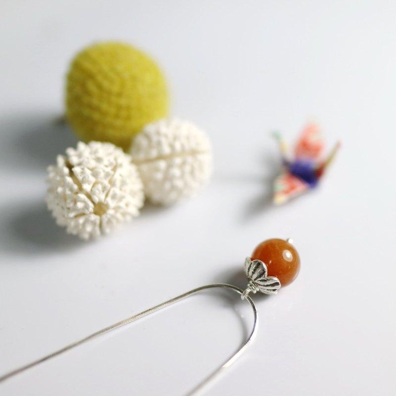 【ColorDay】光玉髓小桔子義大利原裝925純銀項鍊〈Carnelian/Cornelian Silver Necklace〉