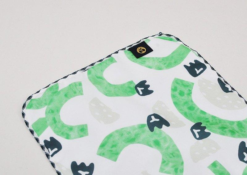 口水巾 小手巾 手帕 方巾 隨身清潔環保-水果 燕巢芭樂印花