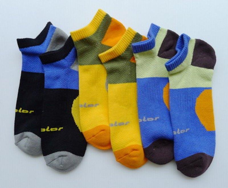 全棉機能專業氣墊慢跑襪(男) 寶藍 (三色可選)