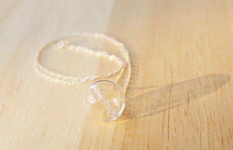 純銀玻璃空心項鍊-泡沫- 哲學家系列 禮物 玻璃 手工 特別 聖誕節