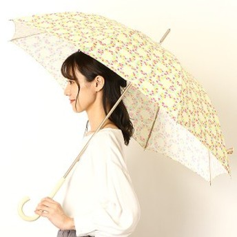 エスタ(estaa)/雨傘(長傘)【手開き/UVケア】リース柄/花柄(婦人/レディース)