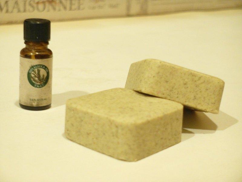 茶樹艾草平安洗髮沐浴皂 添加美樂家茶樹精油 洗髮皂 手工皂 肥皂