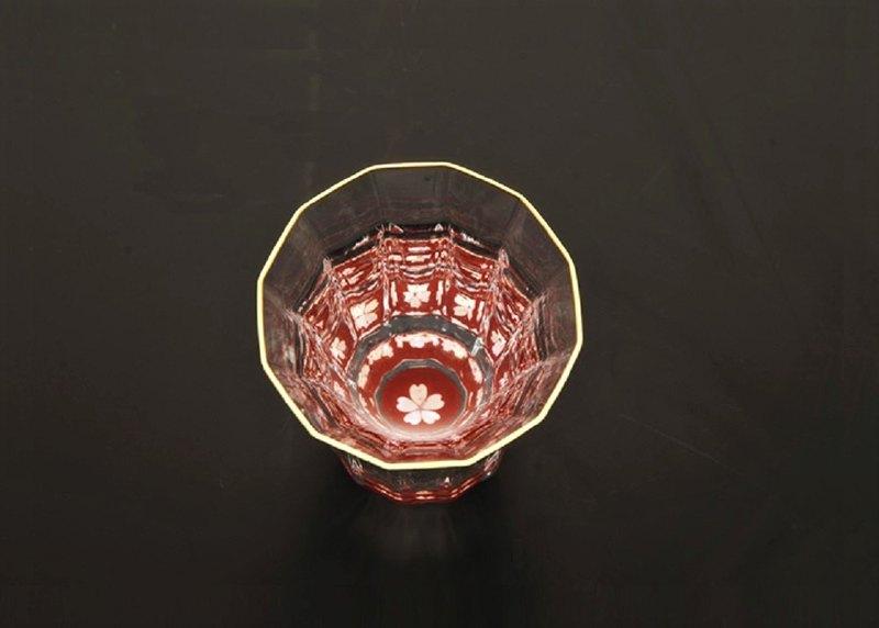 櫻花金杯萬花筒系列(鑲貝-朱紅)