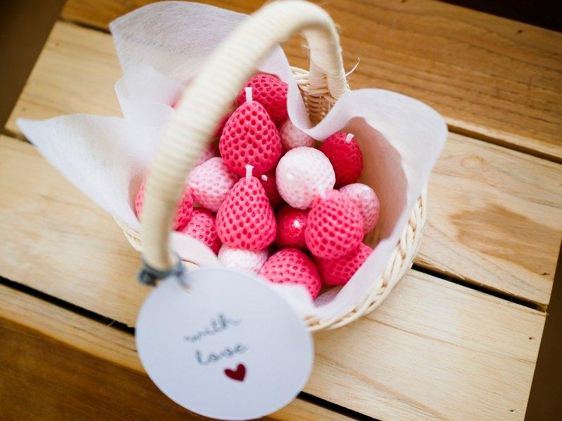 草莓香薰蠟燭籃