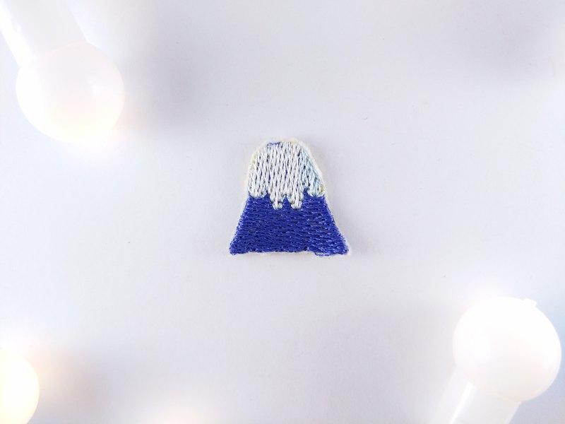 富士山- 刺繡 燙片貼布 補丁 燙布片 衣服夾克