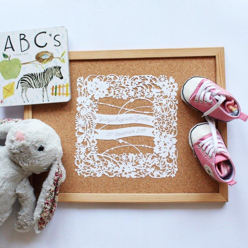 客製化姓名紙雕 (含框)  生日禮物   結婚禮物   紀念品