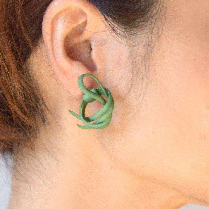 吐溫耳環綠色