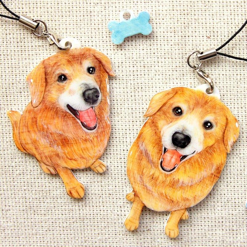 客製化手繪寵物-手機吊飾