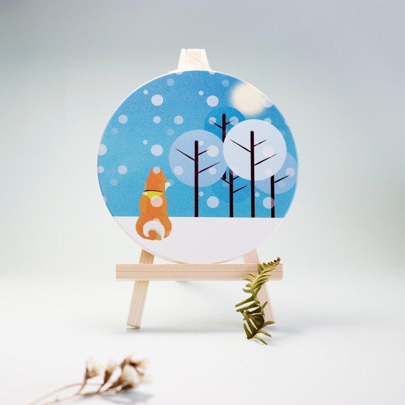 柴將杯墊-冬季版