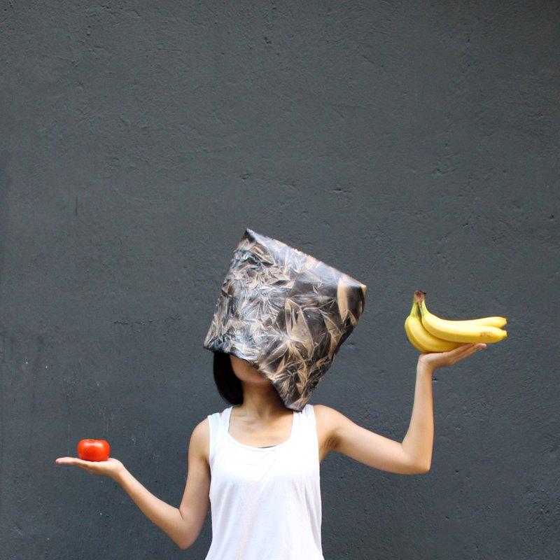 Illusory lunch bag 扎染壓紋羊皮 手拿包 | HARDROCK 黑啡 *限量款式*