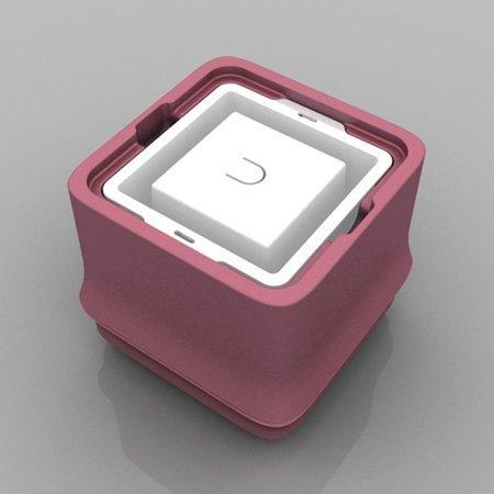 POLAR ICE 極地冰盒方竹系列新色-正方形冰(粉紅色)