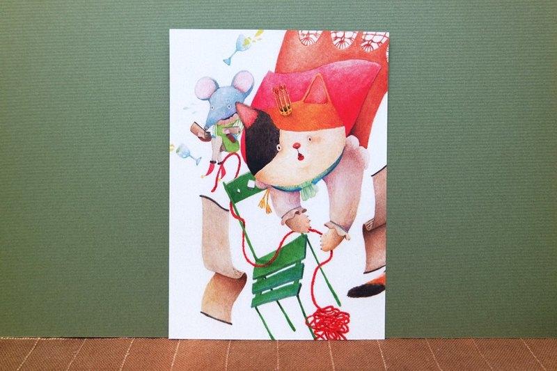 貓咪國王與鼠宰相明信片
