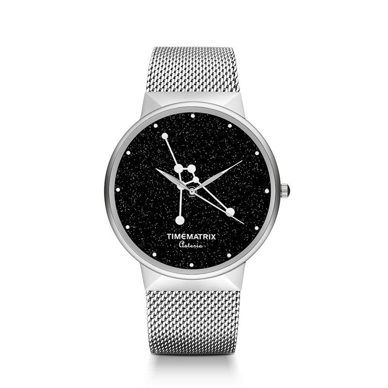【丹麥星彩寶石】巨蟹座 Time Matrix 星座創意時尚男女石英手錶
