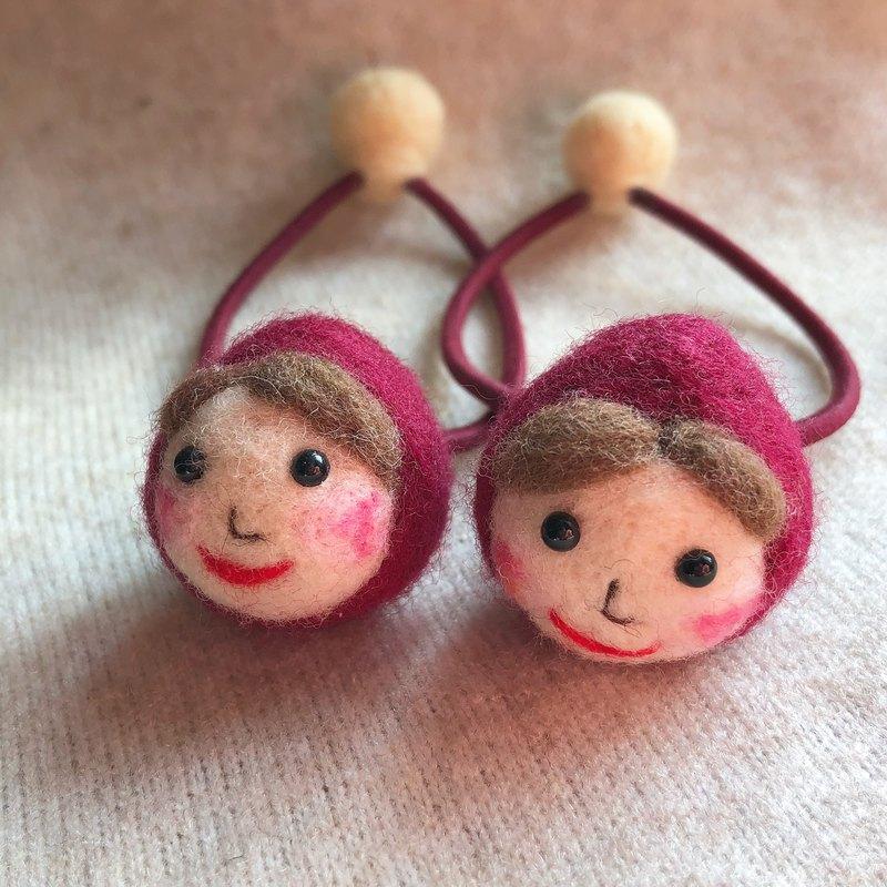羊毛氈可愛俄羅斯娃娃橡筋圈