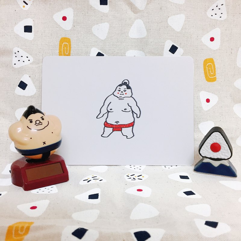 愛吃鬼相撲-明信片
