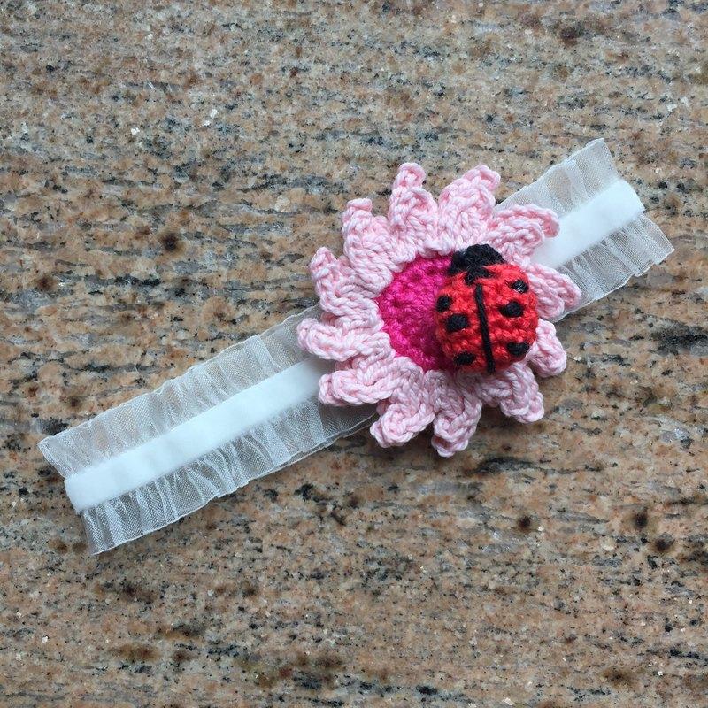 【媽媽寶寶禮物】太陽花小甲蟲嬰兒女童彈性髮帶