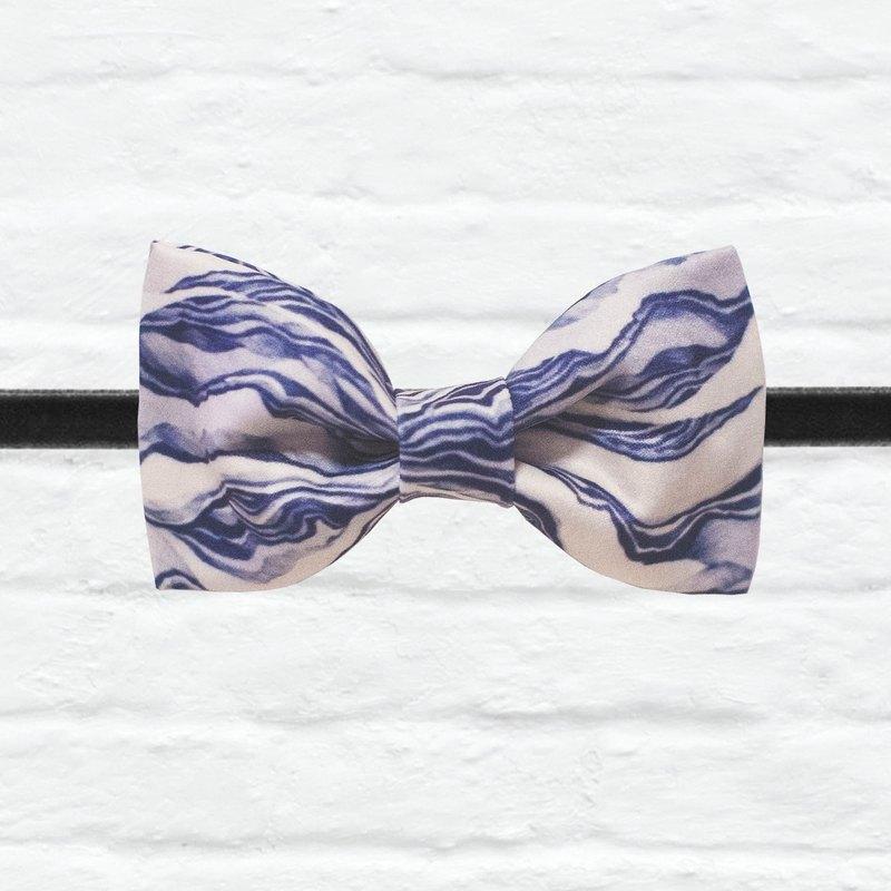 Style 0053 海的調和 印花 系列 領結 Deep sea wave pattern bowtie
