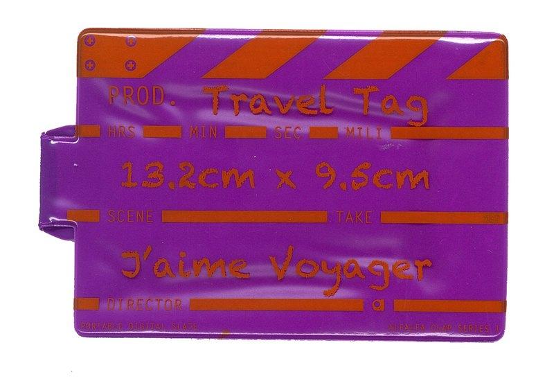 導演拍板行李牌 - 紫色