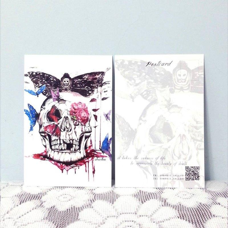 骷髏頭 明信片 (Skull Postcard)