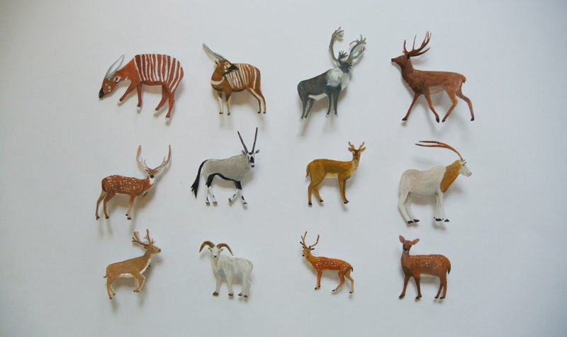 玉記 手繪胸針訂製* / 各種小鹿和山羊