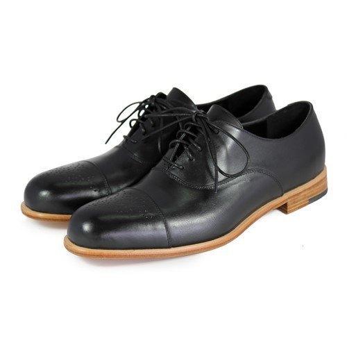 Sweet Villians M1124 手工真皮雕花牛津鞋 黑色