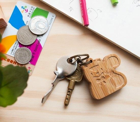 【客製化禮物】可愛動物系列 / 小松鼠鑰匙圈 生日聖誕情人 禮物