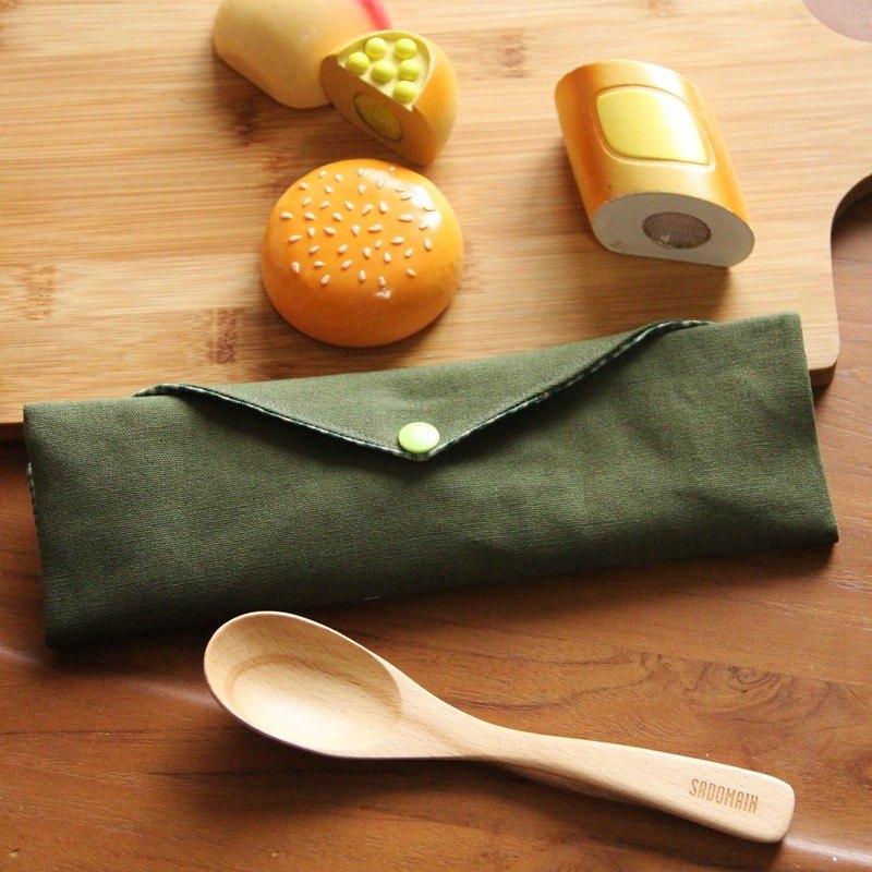 文青風環保筷袋 ~個性綠 收納包.環保筷袋.手作餐具袋