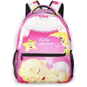 リュック バック 眠っている少女赤ちゃん, リュックサック ビジネスリュック メンズ レディース カジュアル 男女兼用大容量 通学 旅行 鞄 カバン