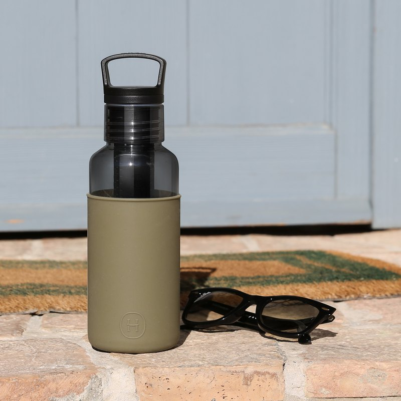 【夏日自由輕靚】美國HYDY輕靚水瓶Estiva系列 碳黑-海藻綠590ml