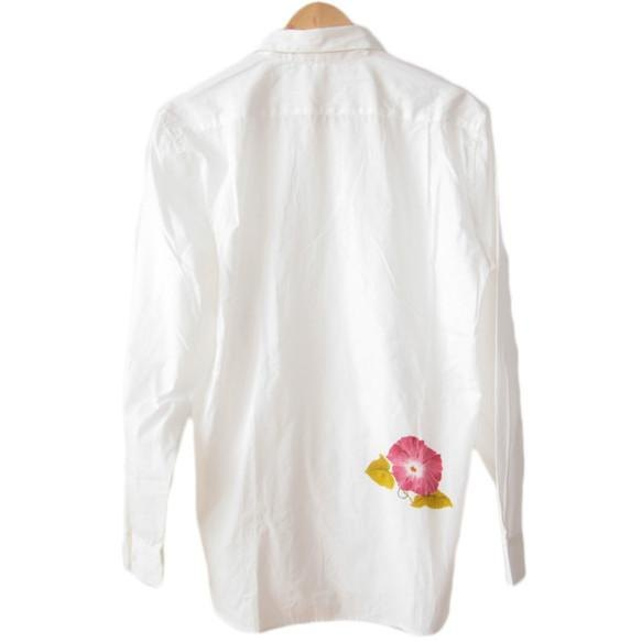 由日本傳統工匠 Nagoya Yuzen Asagao by Tsumugi Lab 染色的超大襯衫