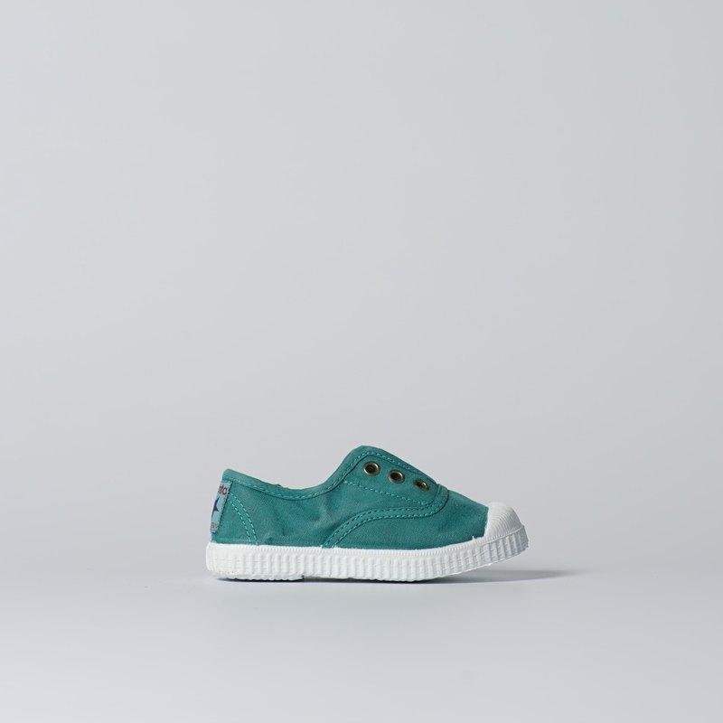 西班牙國民帆布鞋 CIENTA 70777 160 薄荷綠 洗舊布料 童鞋