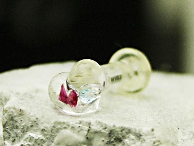 心臟玻璃穿耳:塞8G(3毫米)大小