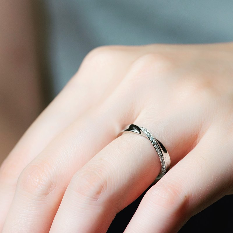 【情人節禮物】Romance down 情人組合對戒 • 純銀戒指厚鍍18K金