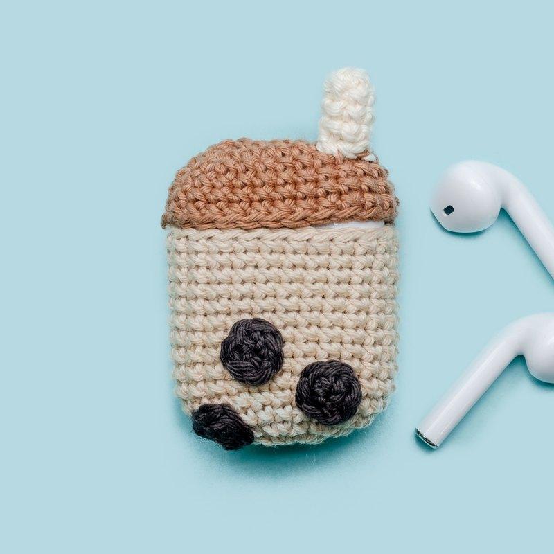 Airpods 1/2鉤針編織包|奶茶|可愛的情況