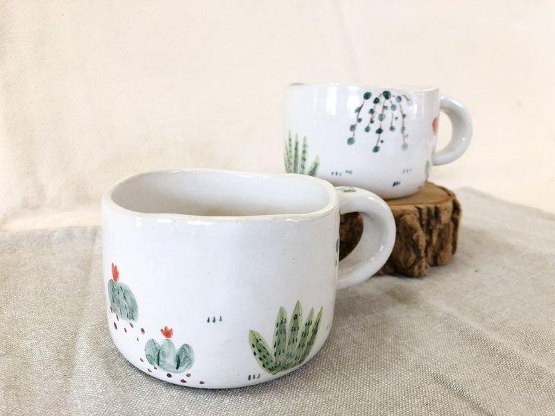手繪植物風格-馬克杯