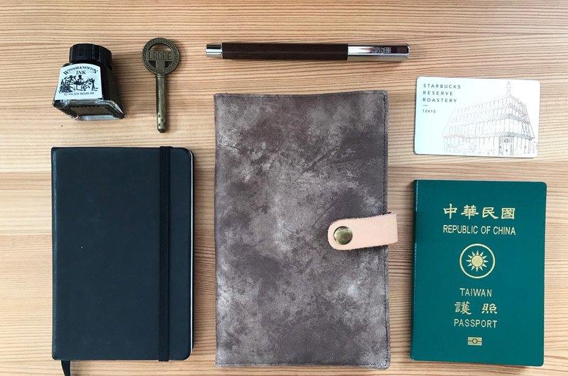 護照 手帳  萬用袋 皮革感/菱格褆織