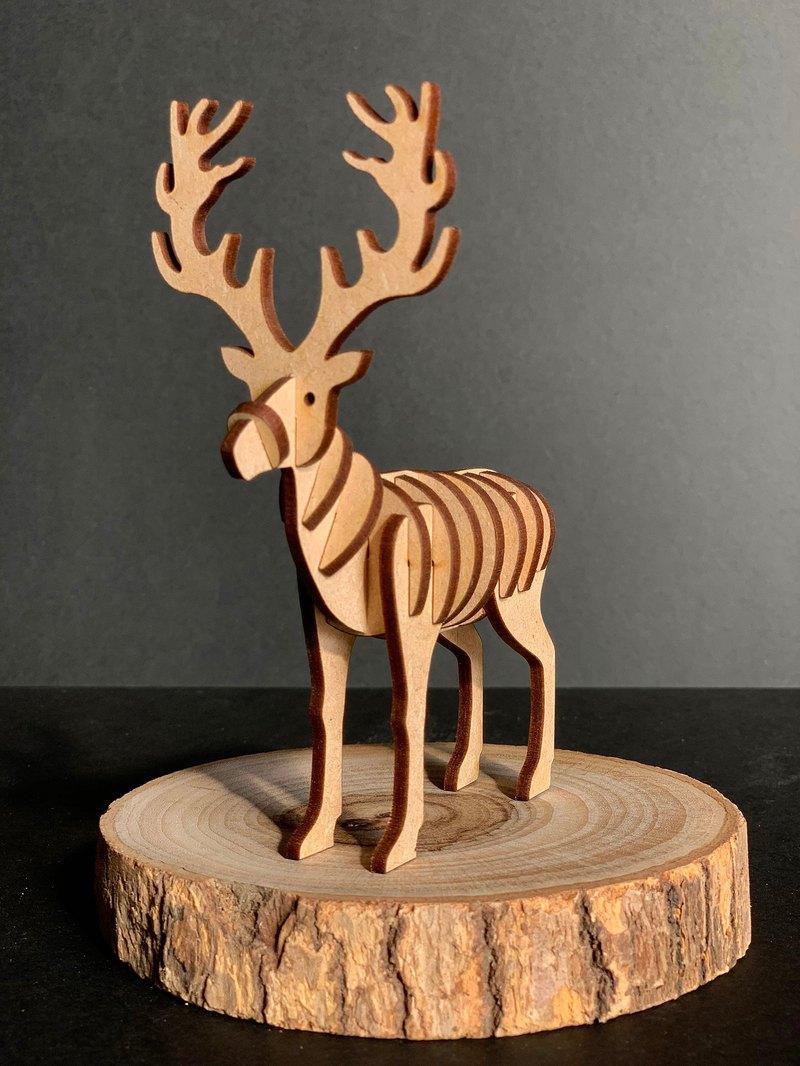 3D立體動物拼圖 馴鹿Reindeer