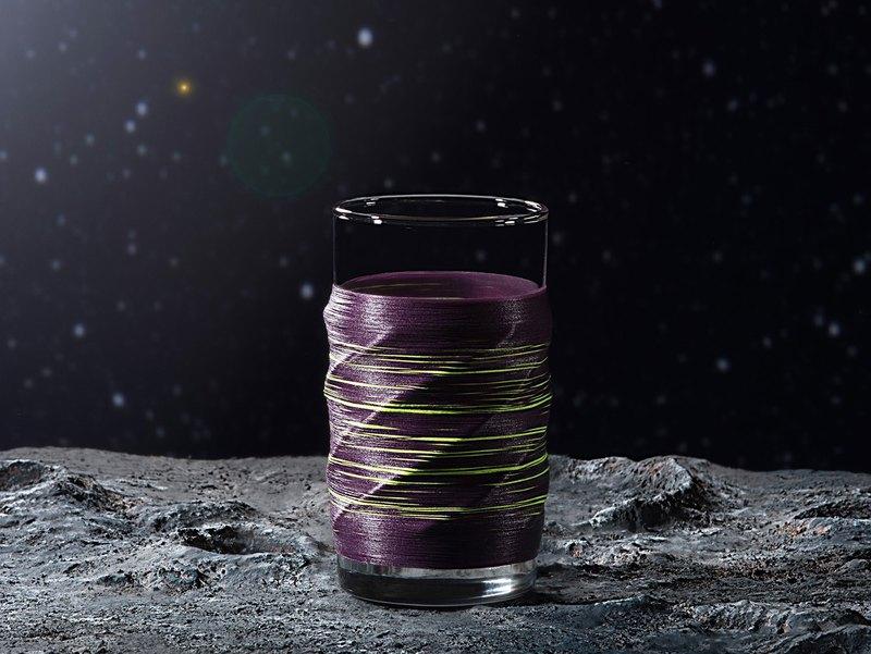 線加工 PUNNDLE 線水杯 銀河款 紫銀河