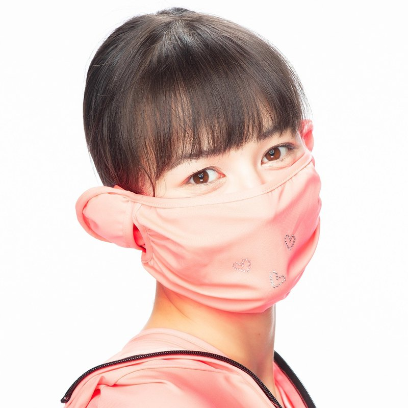 【HOII后益】防曬HOII友愛水鑽口罩-紅