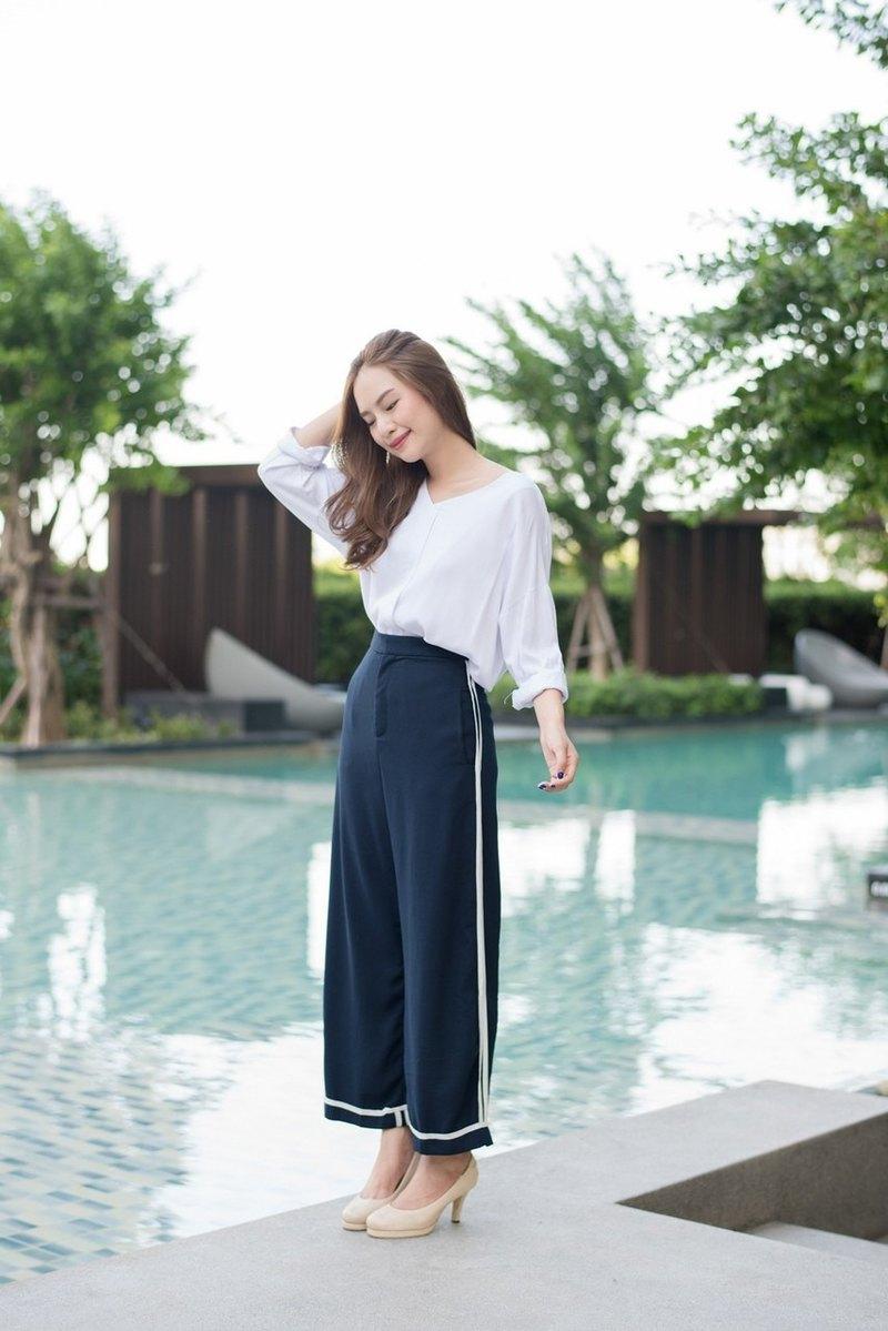 Yuki 側條紋褲