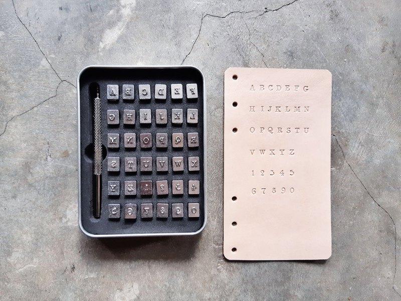 正楷大寫連數字壓印套裝(禮盒裝) 字母模具 皮革DIY 刻印 壓字