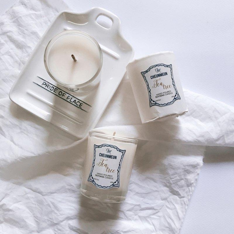 新鮮旅行蠟燭大豆蠟/茶樹香味