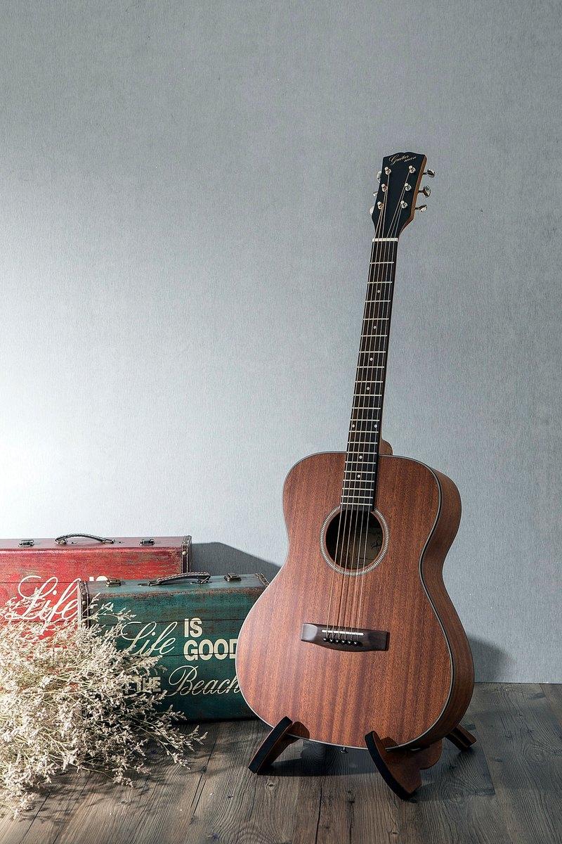 台灣原創 guitarman M-31B 40吋 桃花心木面單 手工40吋OM桶身吉他